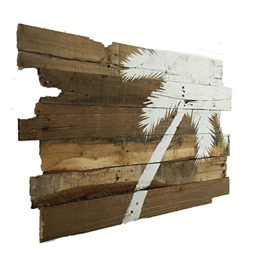 Beach Decor Palm Tree Rt Lean 32 x 21 Natural Color