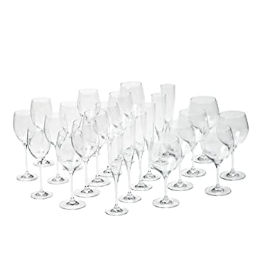 Villeroy & Boch 1137319216 Maxima Stemware Set Bordeaux, Burgundy, White wine, and champagne goblets Clear