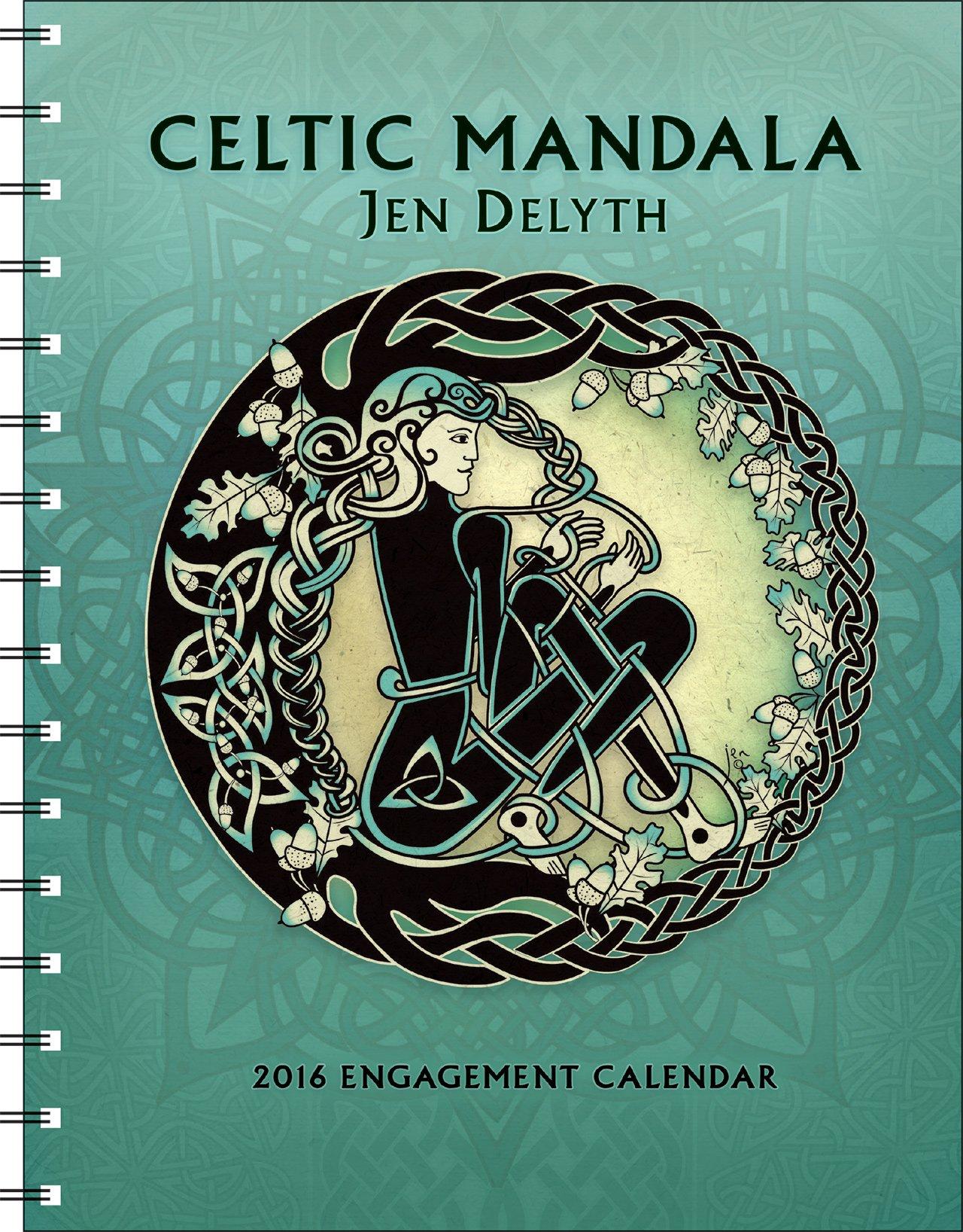 Owl greeting card set welsh artist jen delyth celtic art studio - Celtic Mandala 2016 Engagement Datebook Calendar