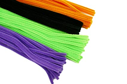 Halloween Set Of 100 Plain Pipe Cleaners For Kids Crafts Embellishing And Group Projects