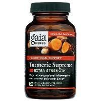 Gaia Herbs, Turmeric Supreme Extra Strength, Turmeric Curcumin Supplement with Black...