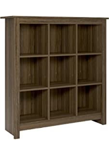 Beau System Build Parker 9 Cube Storage Bookcase, Rustic Medium Oak