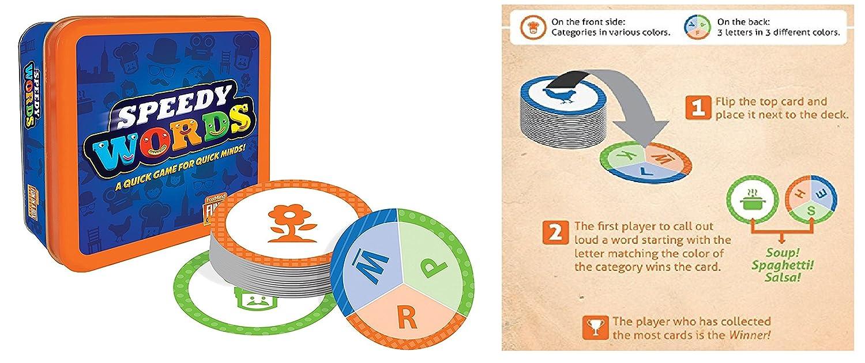 Amazon Speedy Words Card Game Toys Games
