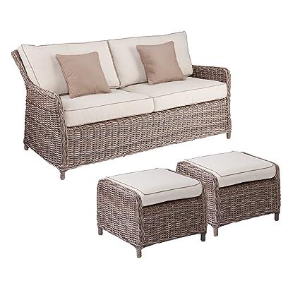 Amazon com: Southern Enterprises Avadi Outdoor 2 5 Seater Sofa