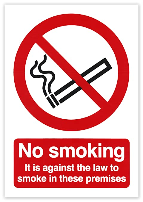 Amazon.com: Hi-Glo 210mm x 148mm No Smoking on the Premises ...