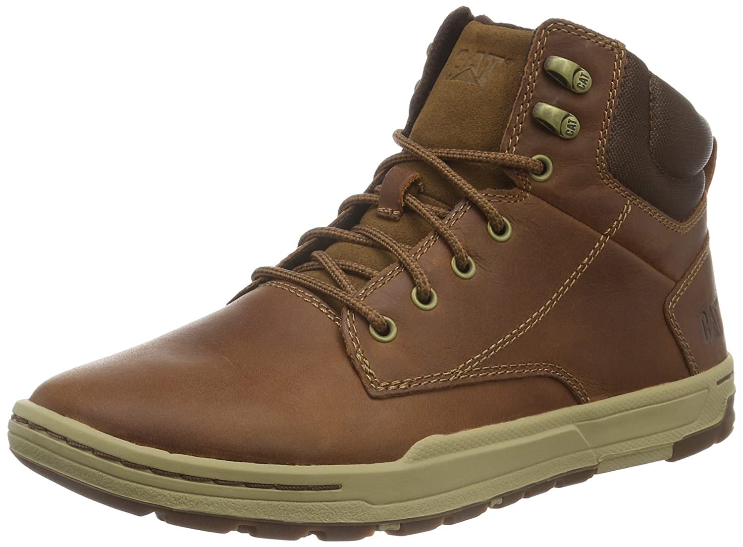 Caterpillar Colfax Mid, Baskets mode homme - Marron (Dark Beige), 42 EU