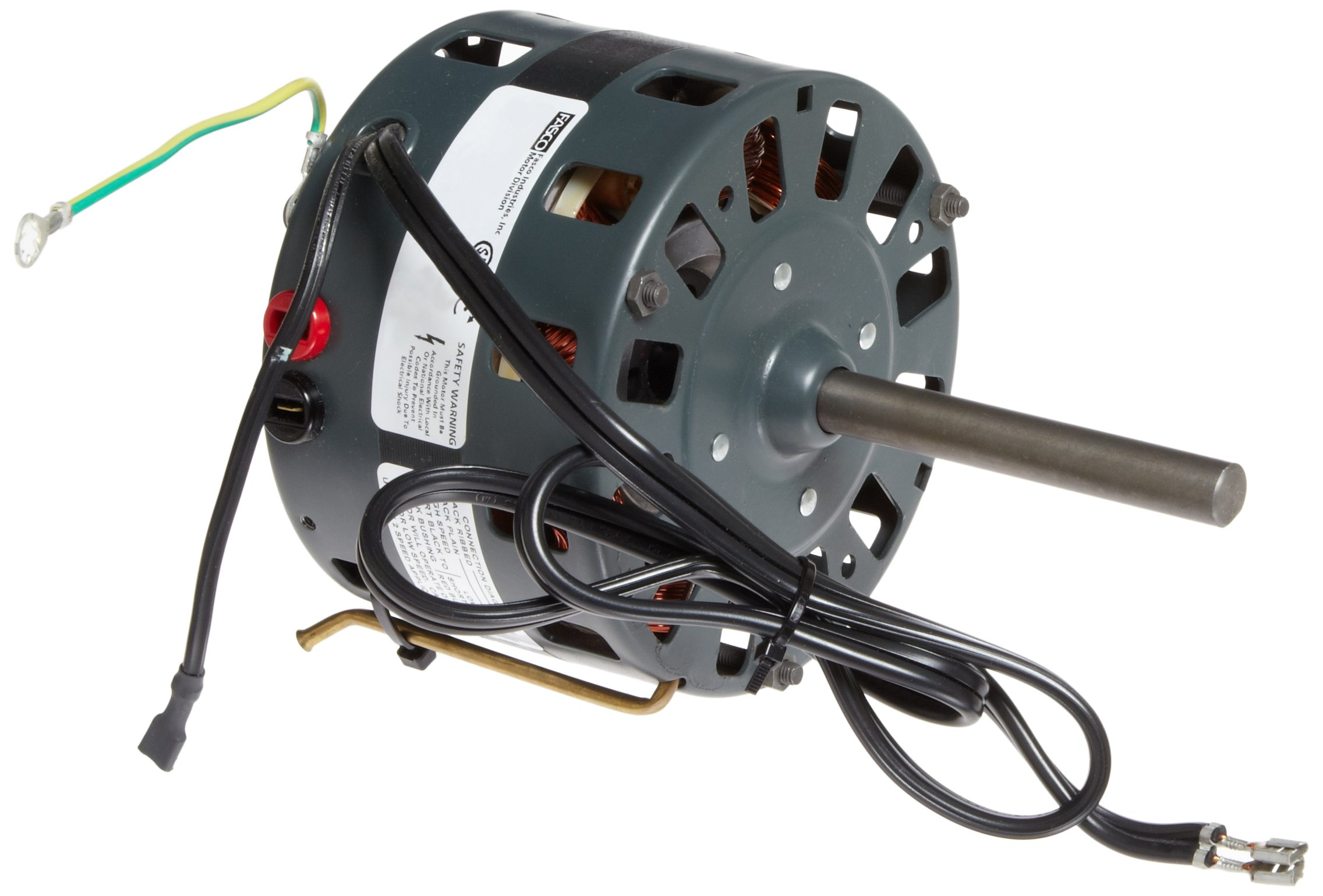 Fasco D180 5'' Frame Open Ventilated Shaded Pole Direct Drive Blower Motors with Sleeve Bearing, 1/8-1/11HP, 1050rpm, 115V, 60Hz, 4.5-3.4 amps by Fasco