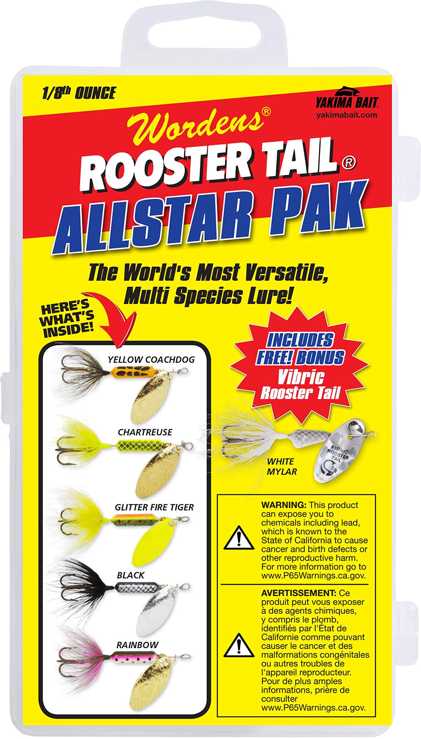 Yakima Bait Rooster Tail 1/8oz Box Kit- Allstar Pak Mix by Yakima Bait