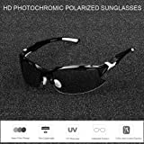 COMAXSUN Polarized Photochromic Sports Sunglasses