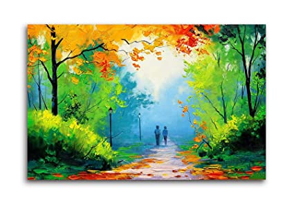 b4db4f561 Tamatina Canvas Colourful Sunrise Nature Fabric Modern Art Paintings ...