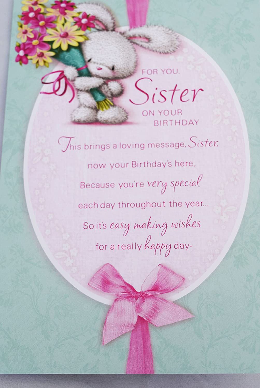 abbastanza Biglietto di buon compleanno speciale per sorella, parole gentili SG94