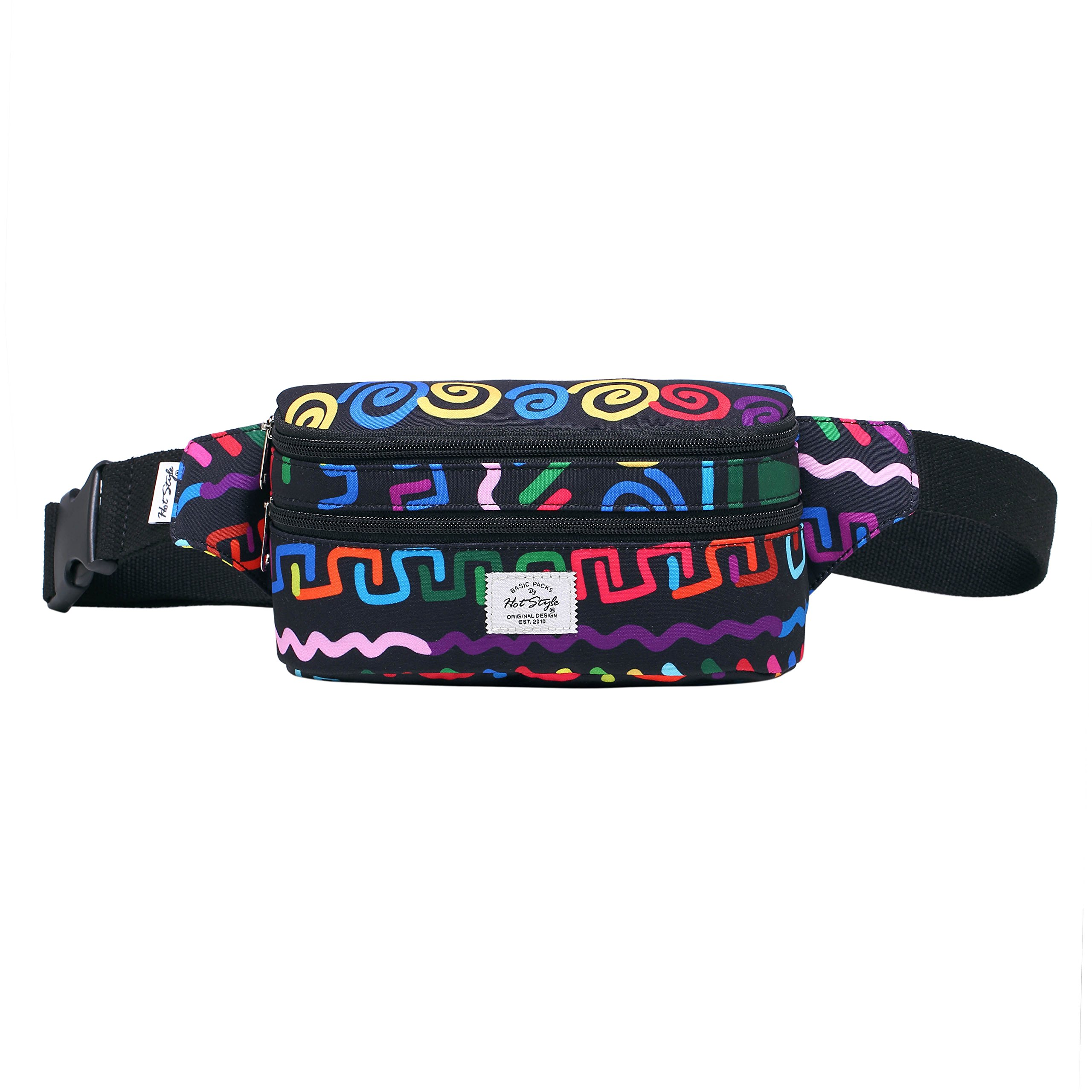 521s Fashion Waist Bag Cute Fanny Pack | 8.0''x2.5''x4.3'' | Ethnic Colorful