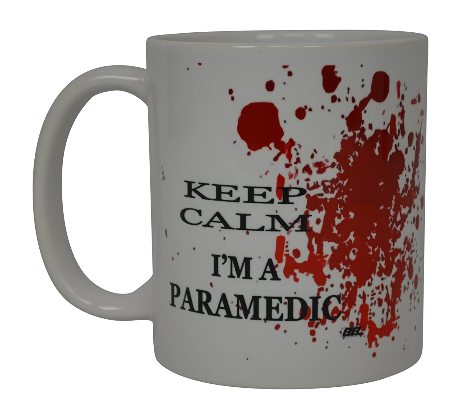 Amazon.com: EMT divertida taza de café Keep Calm I m a ...