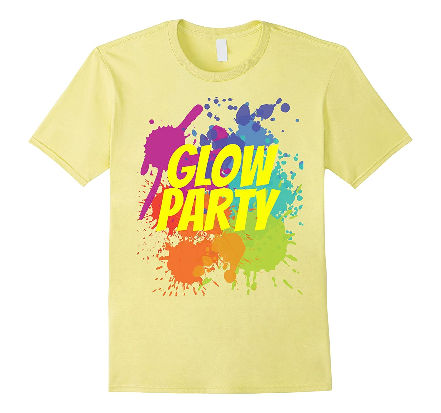 Glow Party Birthday Shirt With Splatters CL