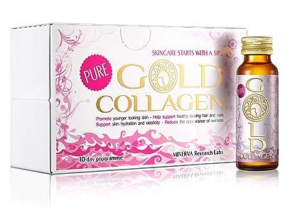 GOLD COLLAGEN® Pure 10 Day – Lucha temprana signos de envejecimiento, nutritivo desde el interior, aumenta el colágeno natural, elastina y niveles de ...