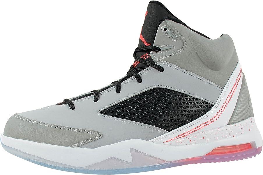 8df9e79b470fef Mens Nike Air Jordan Flight Remix Basketball Shoes-Wolf Grey Infrared 23-11