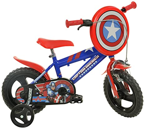 b106522e99db8 Dino Bikes 412UL-CA Marvel Captain America Kids Bicycle
