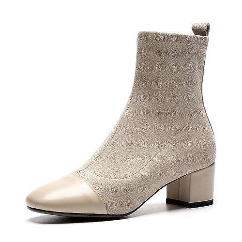 fa7fd4878 Botines con tacón Cuadrado y tacón Cuadrado para Mujer  Amazon.es  Zapatos  y complementos