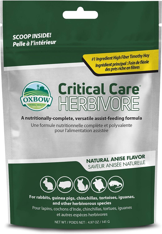 Oxbow Animal Health Critical Care, Herbívoro, Sabor a anís, Bolsa de 141 Gramos