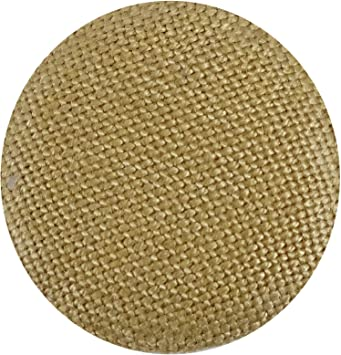 Set of 6 x 19mm Beige Tan with Gold Trim 4 Hole Buttons Sewing Craft Knitting