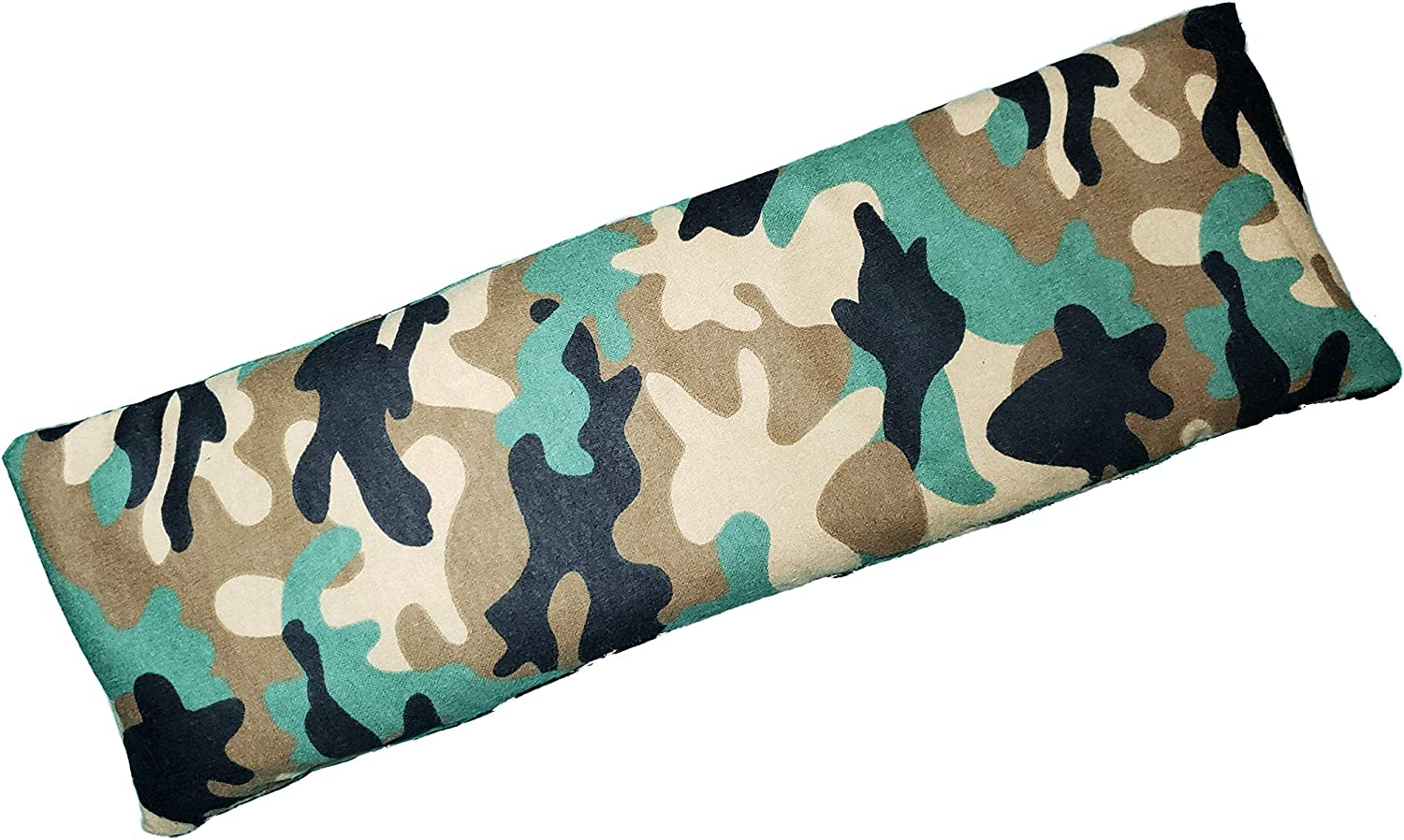 """Microwavable Corn Filled Heating Pad and Cold Pack/Washable 100% Cotton Cover (5.25""""Wx17.25""""L, Camo)"""