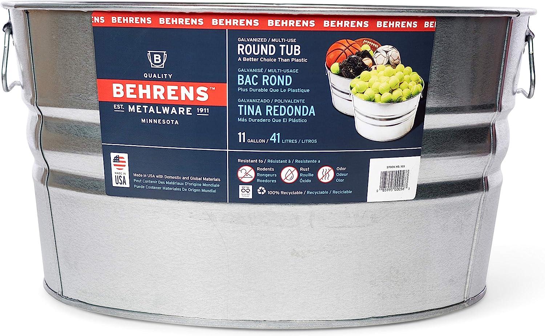 Behrens 1GS 11 Gallon Round Galvanized Steel Tub