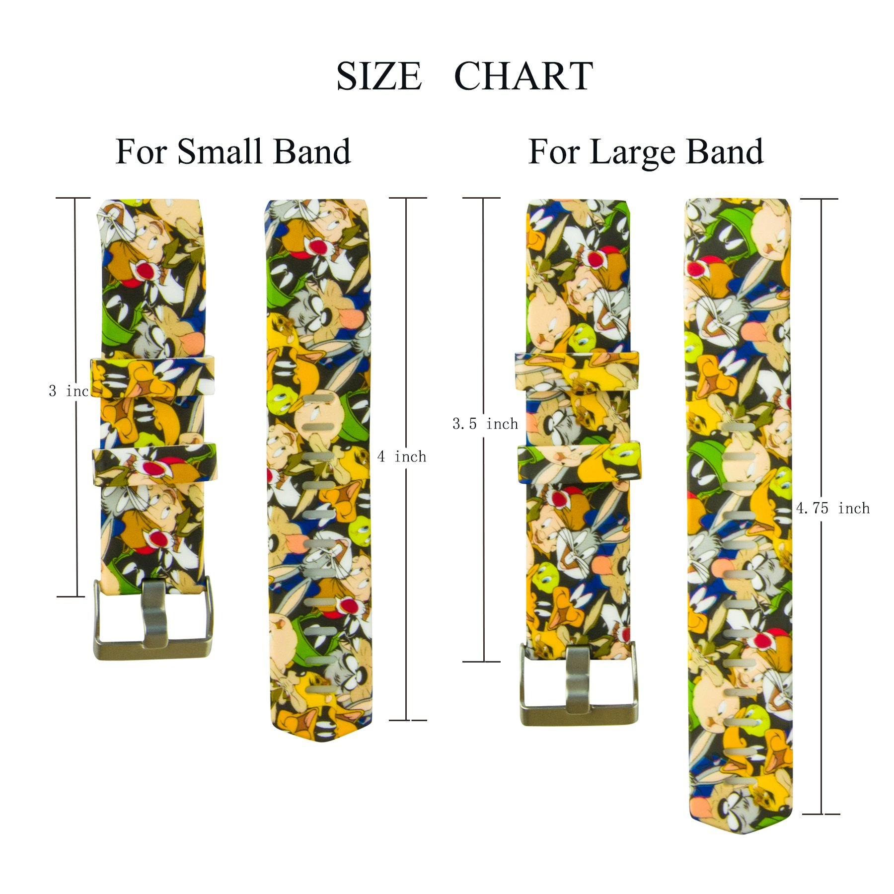 Fitbit Charge 2 Band,Soft Silicone Adjustable Replacement Sport Strap Floral Design Bands with Classic Buckle Fitness Accessory Wristband for Fitbit Charge2 (Pattern-11, Small (Wrist 5.5\