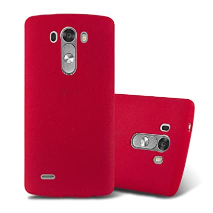 best service 81550 1c440 Cadorabo Case Works with LG G3 in Frost RED – Shockproof and Scratch  Resistant TPU Silicone Cover – Ultra Slim Protective Gel Shell Bumper Back  ...