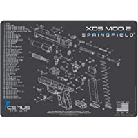 EDOG Springfield Armory XDsMOD 2 Cerus Gear Schematic (Exploded View) Heavy Duty Pistol Cleaning 12x17 Padded Gun-Work Surface Protector Mat Solvent & Oil Resistant