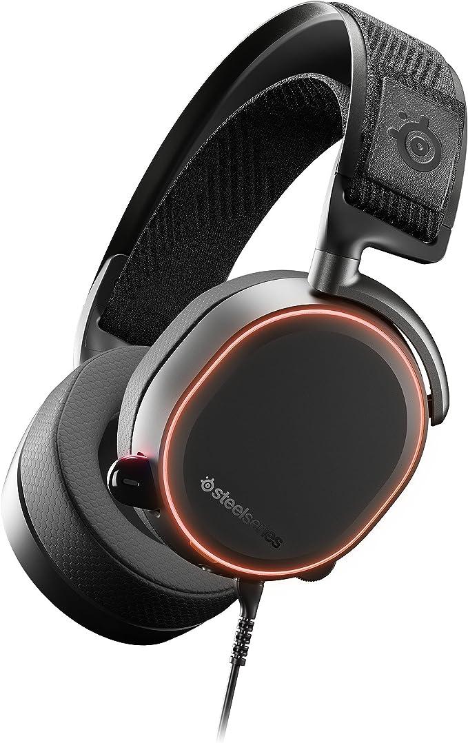 Steelseries Arctis Pro Binaural Diadema Negro Auriculares con micrófono (PCJuegos, Binaural, Diadema, Negro, Multicolor, Aluminio, Acero