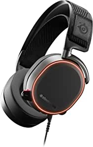 SteelSeries Arctis Pro High Fidelity Gaming Headset - Hi-Res Speaker Drivers - DTS Headphone:X v2.0 Surround for PC, Black