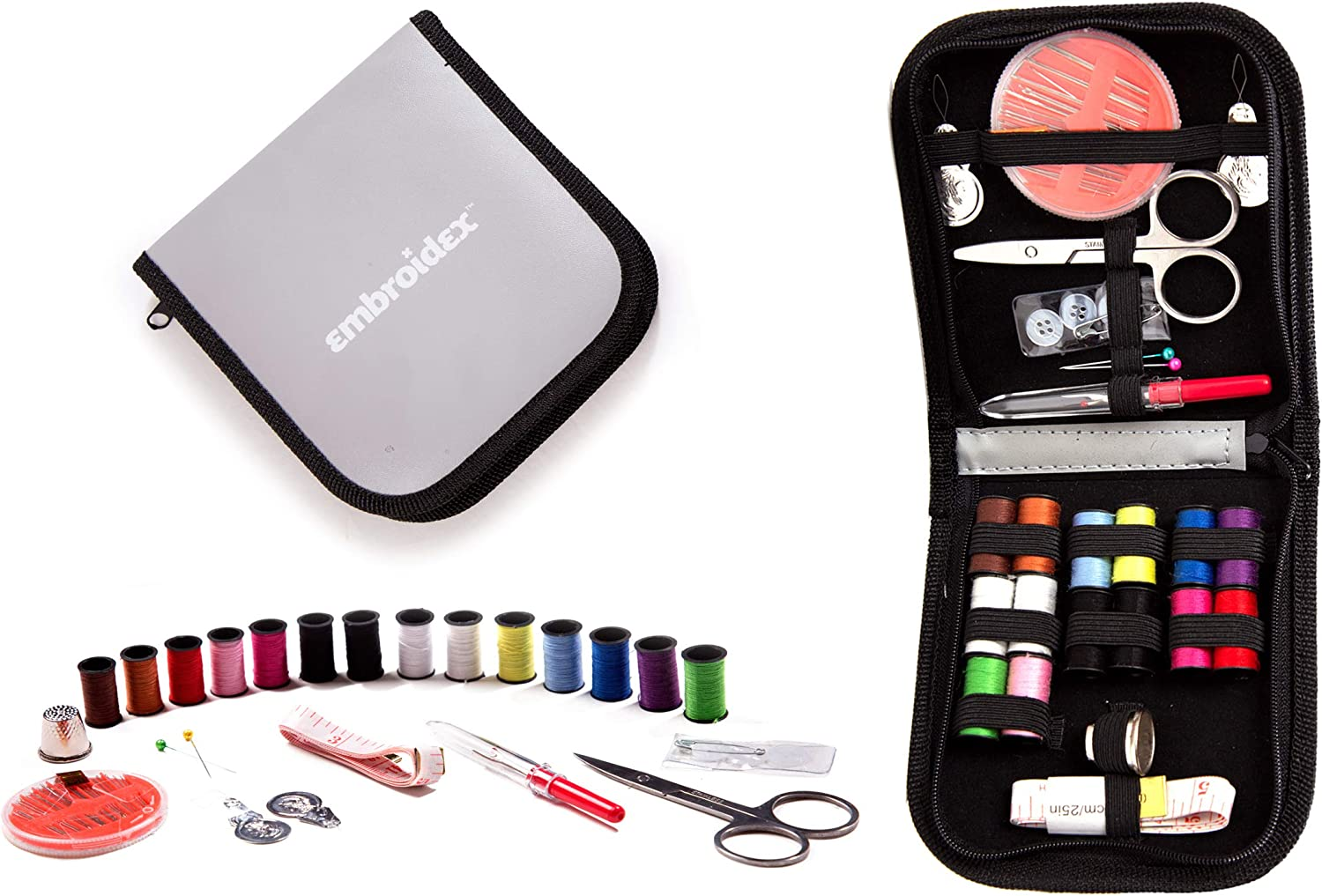 Embroidex Sewing Kit for Home, Travel & Emergencies