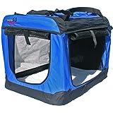 Dogidogs Hundetransportbox faltbar Transportbox für Hunde Hundebox Auto - Dogi Kennel deLuxe - 6 Größen blau