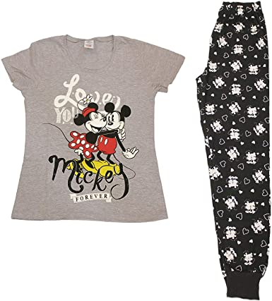 Pijama de Minnie y Mickey Mouse para Mujer, Pijama de 8 a 18