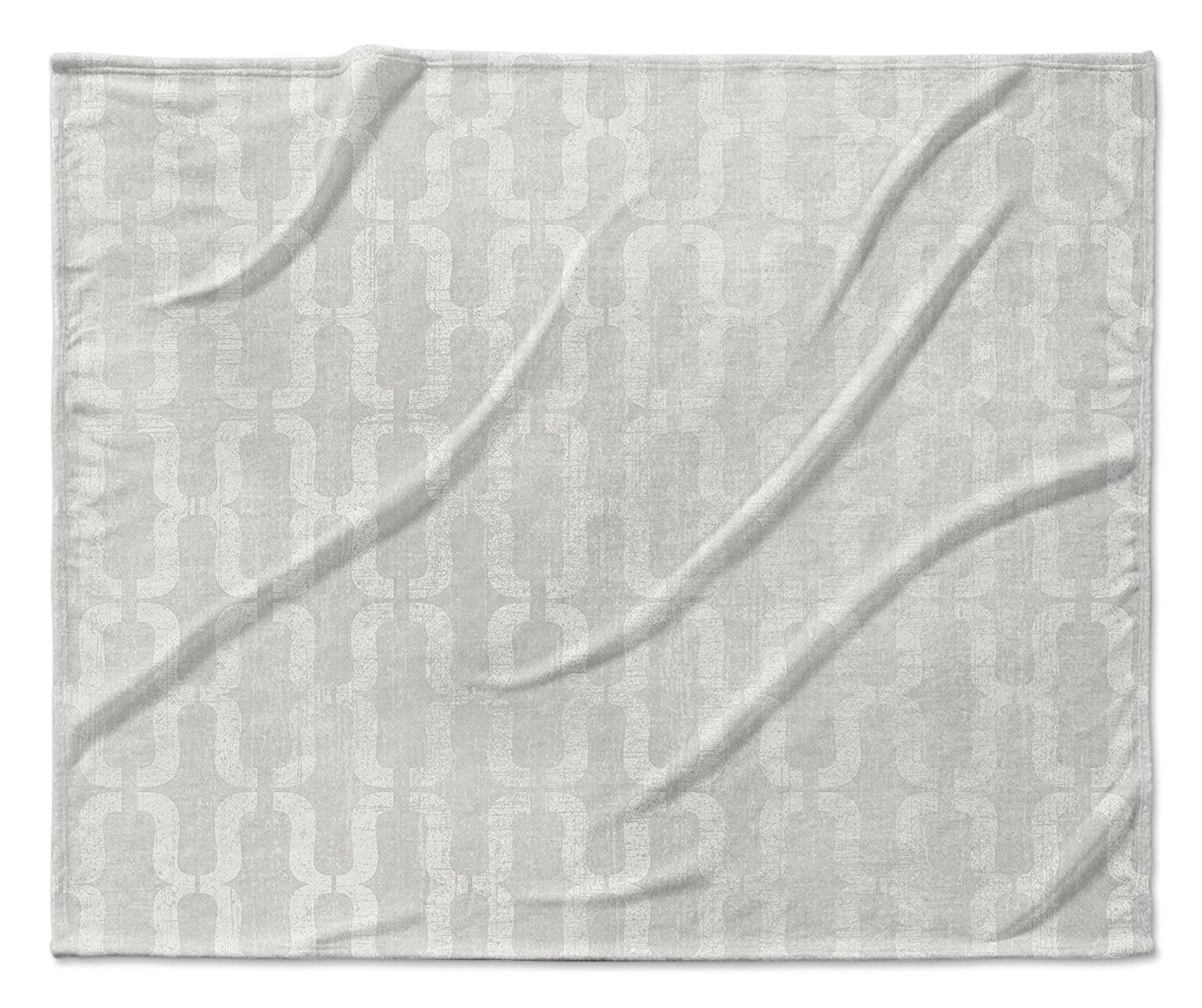 Grey TELAVC1493VPM Size: 50x60x1 - KAVKA Designs Lucca Fleece Blanket, - ENCOMPASS Collection