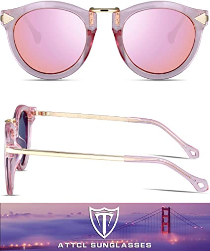 Vintage Fashion Round Arrow Style Polarized Sunglasses for Women