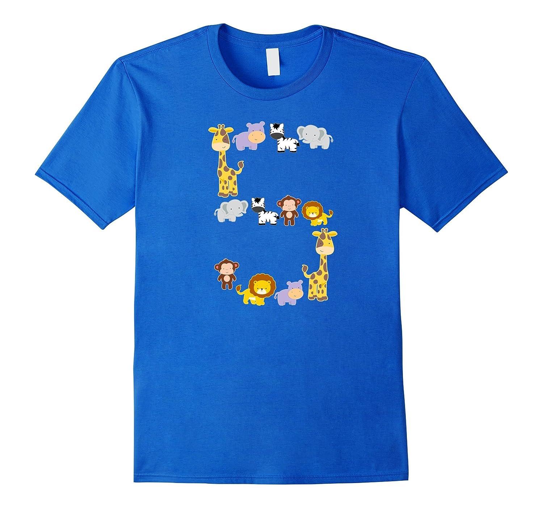 Safari Animals Birthday T Shirt For 5 Year Old Girls Boys BN