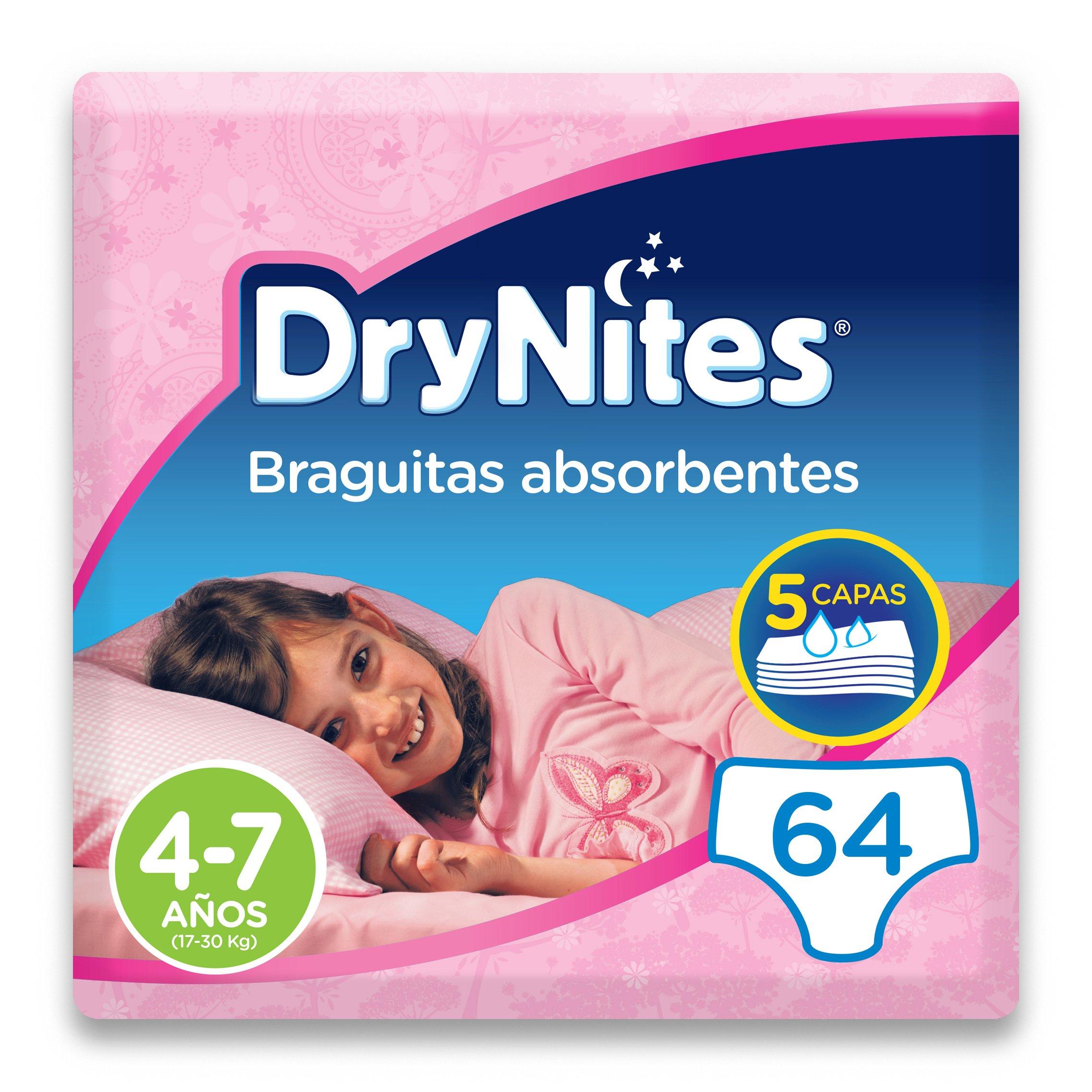 DryNites - Braguitas absorbentes para niña - 4-7 años (17-30 kg