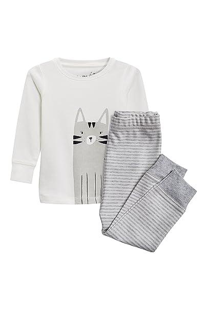 next Niñas Pijama De Diseño Abrigado con Motivo De Gato (9 Meses - 6 Años) Gris 5-6 años: Amazon.es: Ropa y accesorios