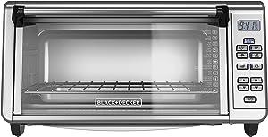 Black+Decker TO3290XSBD Toaster Oven, 8-Slice, Stainless Steel (Renewed)