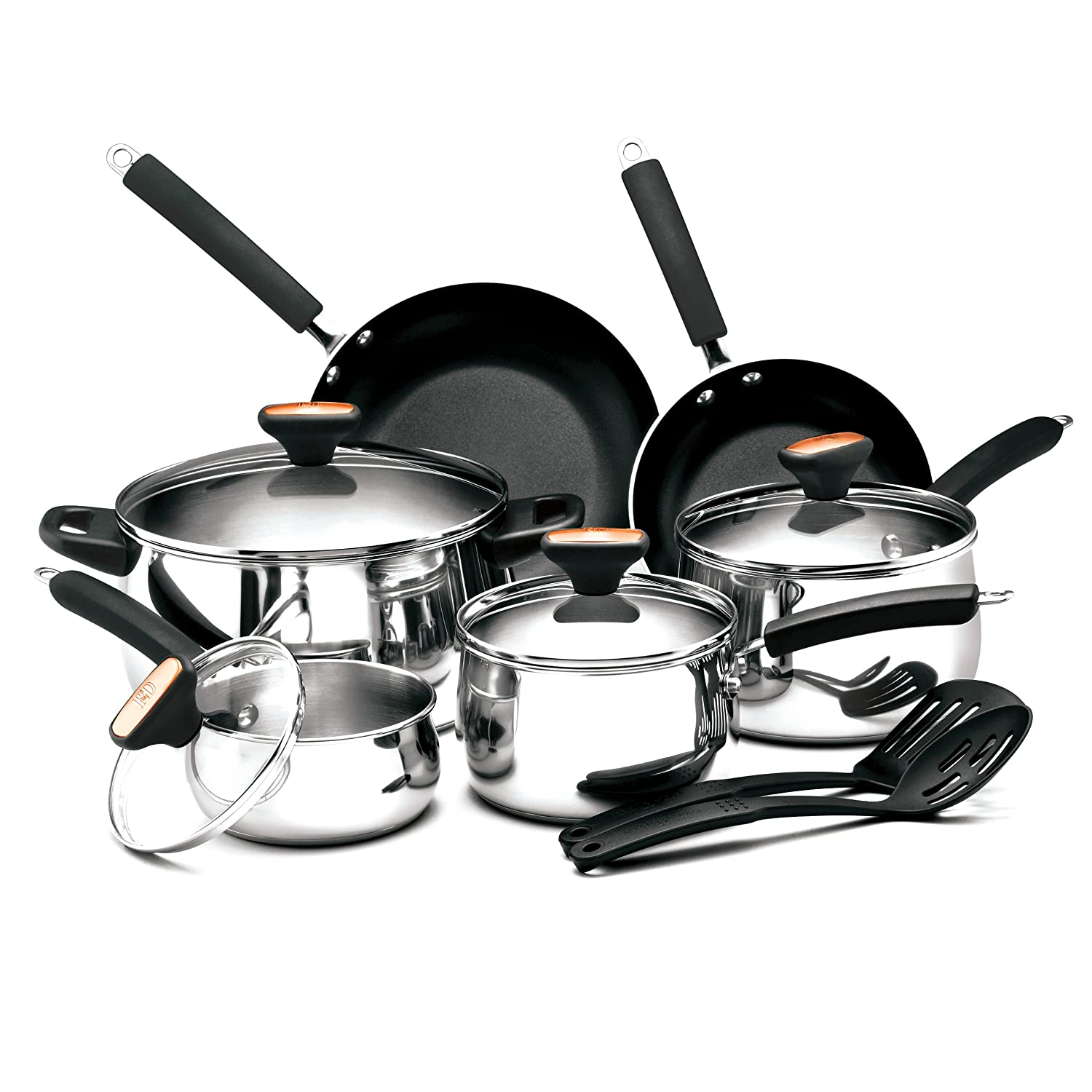 Paula Deen Signature Stainless Steel II 12-Piece Cookware Set Meyer 76362