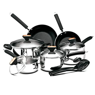 Paula Deen Signature Stainless Steel 12-Piece Cookware Set