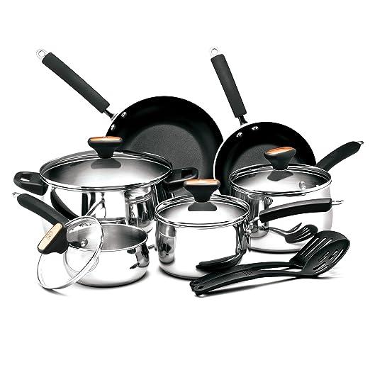 Paula Deen Signature Stainless Steel II 12-Piece Cookware Set: Amazon.es: Hogar