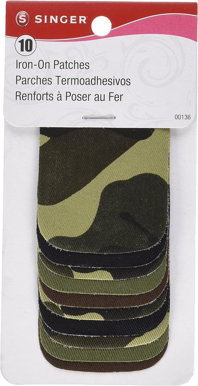 Singer 00136 – Parches para Planchar, 2 por 7,62 cm, Camuflaje, Paquete de 10 Unidades: Amazon.es: Hogar