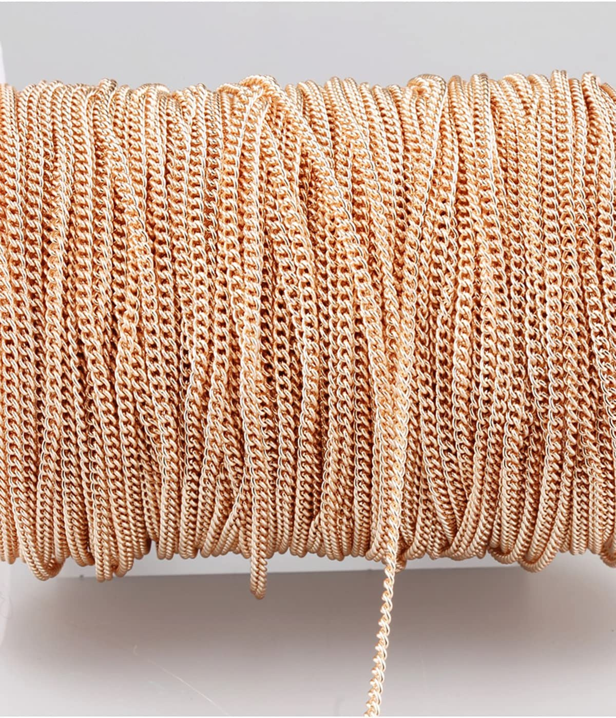 3 x 4mm Cross Chain 32.8ft Do not Fade Rose Gold Plated Twisted Chains Metal Cable Chain Link Jewelry Making Chain for DIY Making Bracelet Necklace