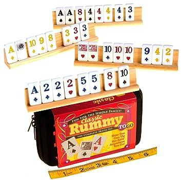 Doublefan Rummy 106 Tiles Travel Rummy Game With 4 Sturdy Racks