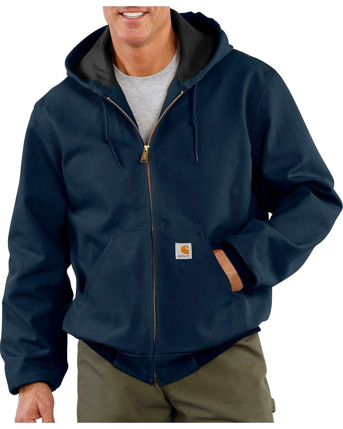 Carhartt Men's Thermal Lined Duck Active Jacket J131 (Regular and Big & Tall Sizes), Dark Navy, X-Large Tall by Carhartt