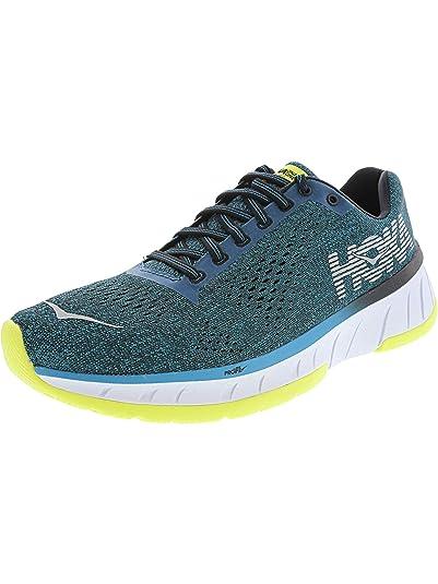 hot sales aac38 f9cb7 Hoka One Men's Cavu Caribbean Sea/Black Ankle-High Mesh Running Shoe - 11.5M