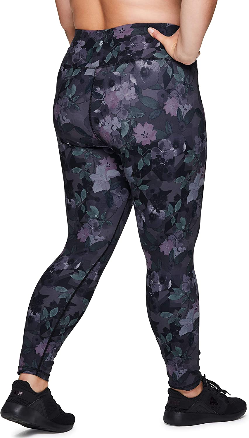 RBX Active Womens Plus Size Stretch Ankle//Full Length Workout Running Gym Yoga Leggings