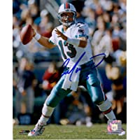 """$199 » Dan Marino Miami Dolphins Autographed 8"""" x 10"""" Throwing Photograph - Autographed NFL Photos"""